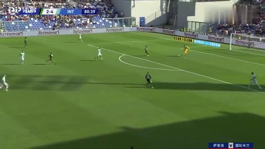 博加一路推进闯进禁区,右脚推射破门!萨索洛3-4国际米兰