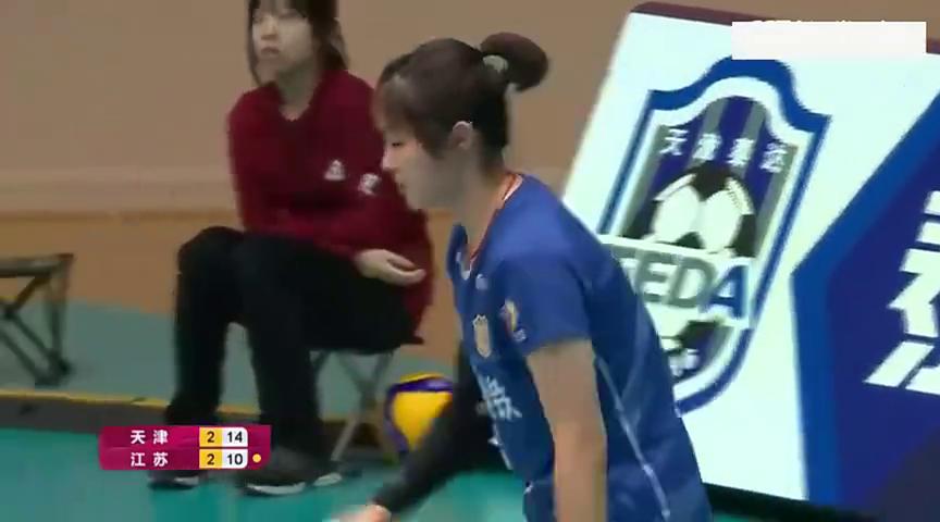 李盈莹终结比赛,天津女排经过5局大战,最终以3-2战胜江苏女排!