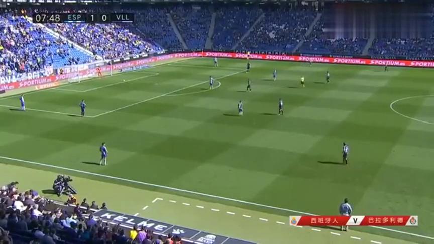 西班牙门将开球滑到,武磊高难度停球打出快攻,但队友不给力啊!