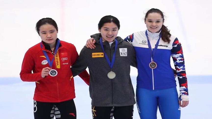 短道世界杯韩雨桐1000米获亚军范可新500米止步半决赛