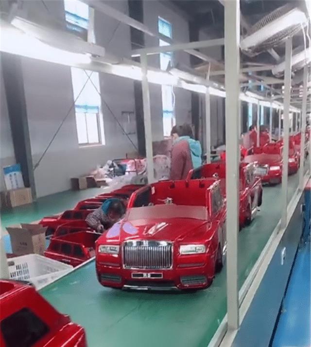 """""""法兰红""""库里南生产基地,全部是山寨车,纯电驱动,每台不过万"""