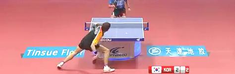 世界杯团体赛朱世赫vs steffen乒乓球比赛视频