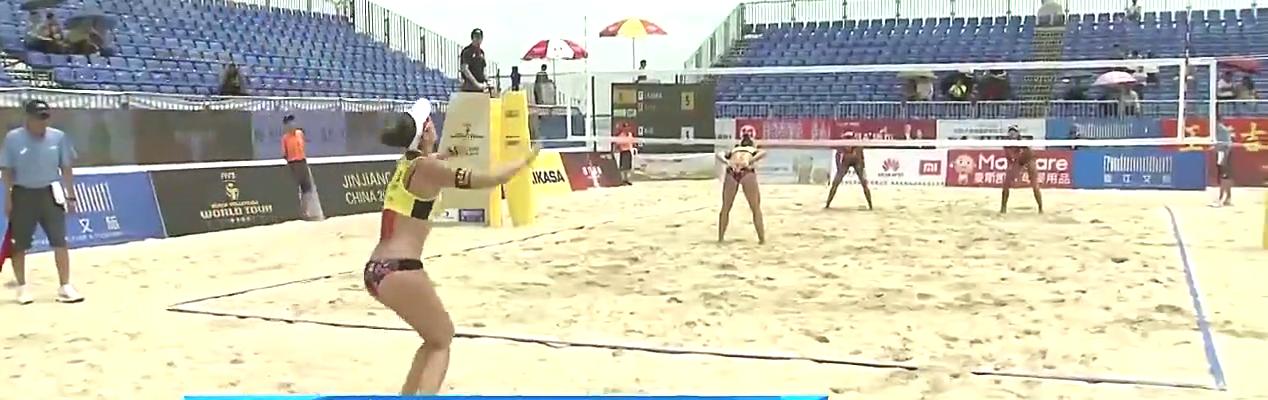 排球赛场,沙滩排球世界巡回赛,中国女队经验不足12出师不利