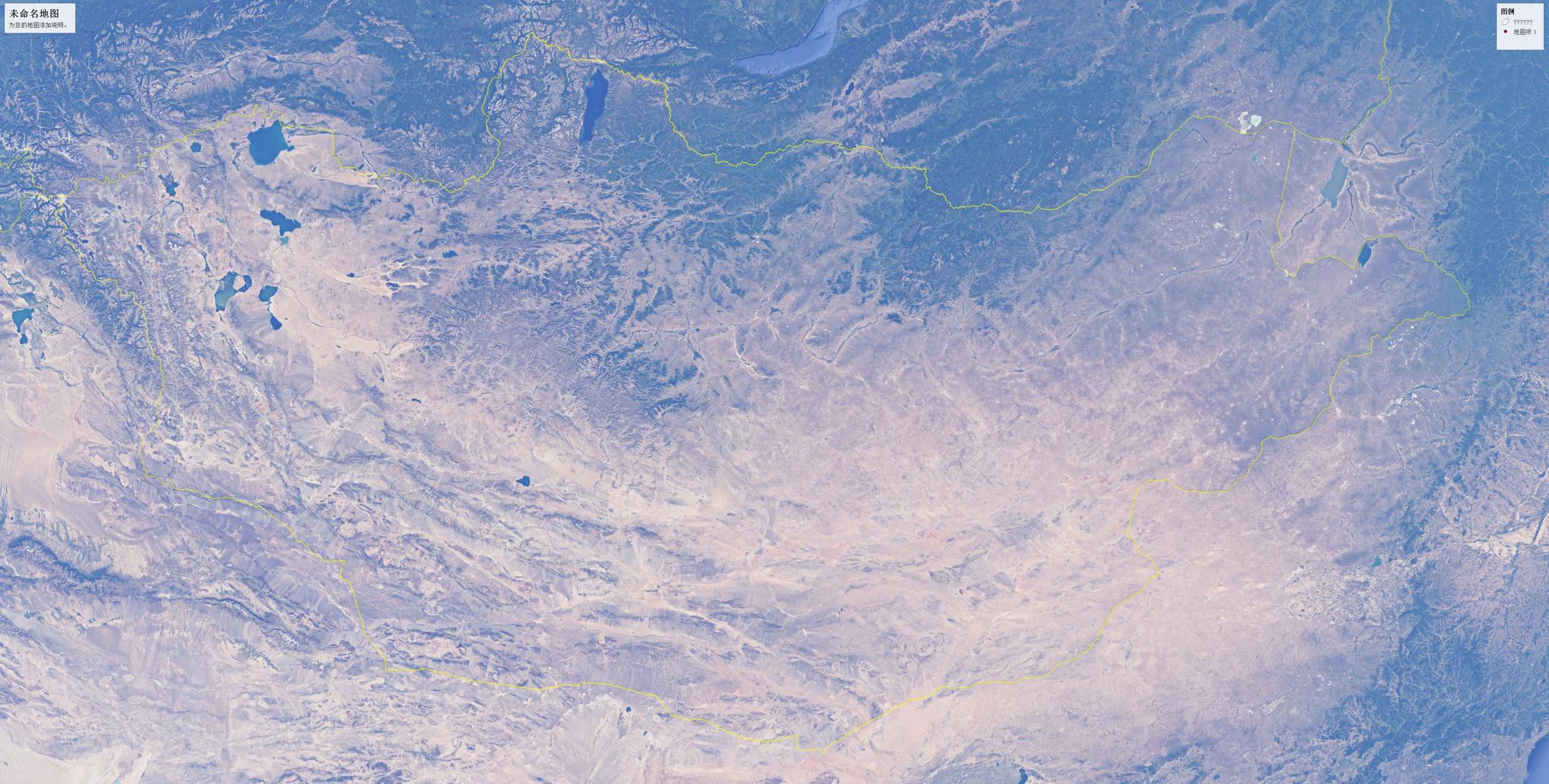 蒙古国五大城市简易地形图,乌兰巴托,达尔汗,乔巴山