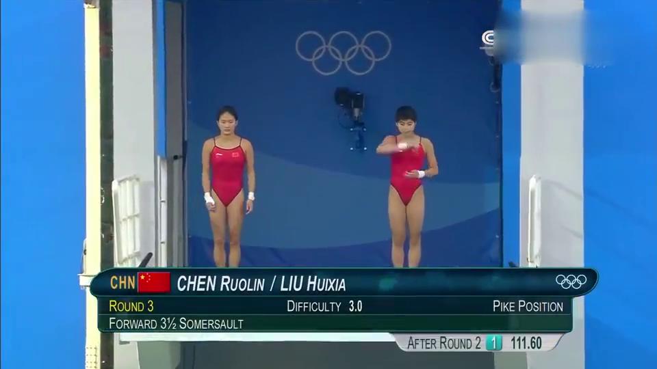 经典回顾-女子双人跳水比赛,陈若琳刘蕙瑕神同步,配合太好!