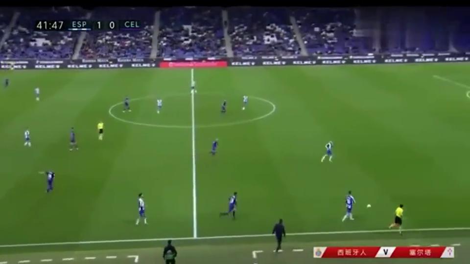 西班牙人vs塞尔塔!塞尔塔进攻实在凶残,还好武磊先进一球