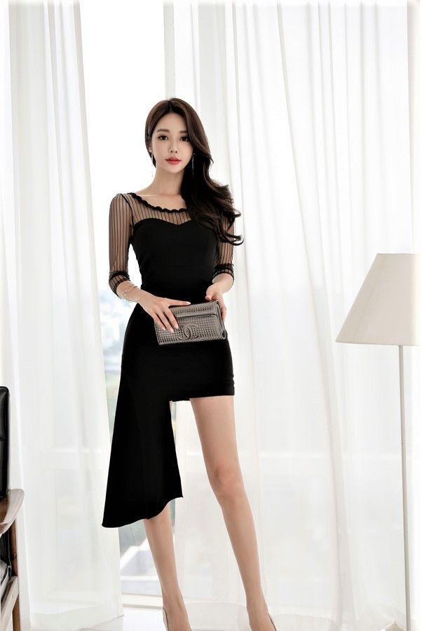 时尚潮流的包臀裙美女,秀出傲人s身材,特别迷人