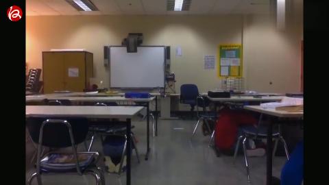 阿拉斯加一群中学生面对强烈地震非常淡定的救生表现
