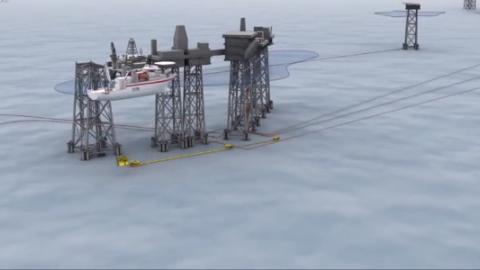 海上钻井平台是如何输送石油液化气的