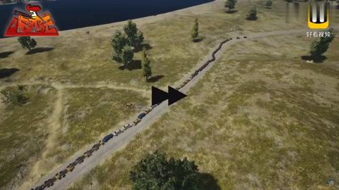 绝地求生:130辆汽车排成500米长龙,连环爆炸场面,毕生难忘