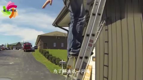 害怕梯子不安全,老外发明扶梯神器,网友:厉害了