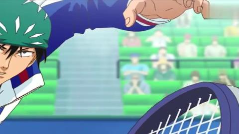 网球王子摆着龙卷蛇球的架势打出了镭射光束对手睡十五分钟