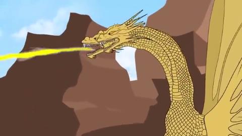 哥斯拉:哥斯拉与三头怪兽的动画片