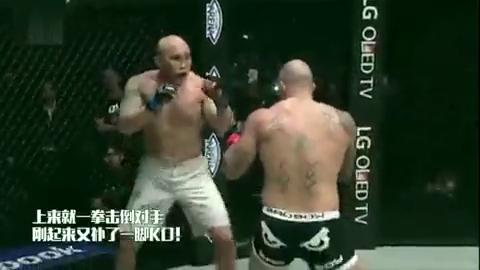 超强的重拳重脚!布兰登秒杀对手捍卫重量级冠军荣耀