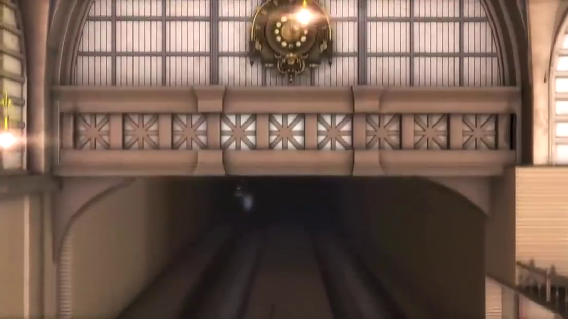 两人即将搭乘飞行列车,一人突然消失不见,引起一阵恐慌