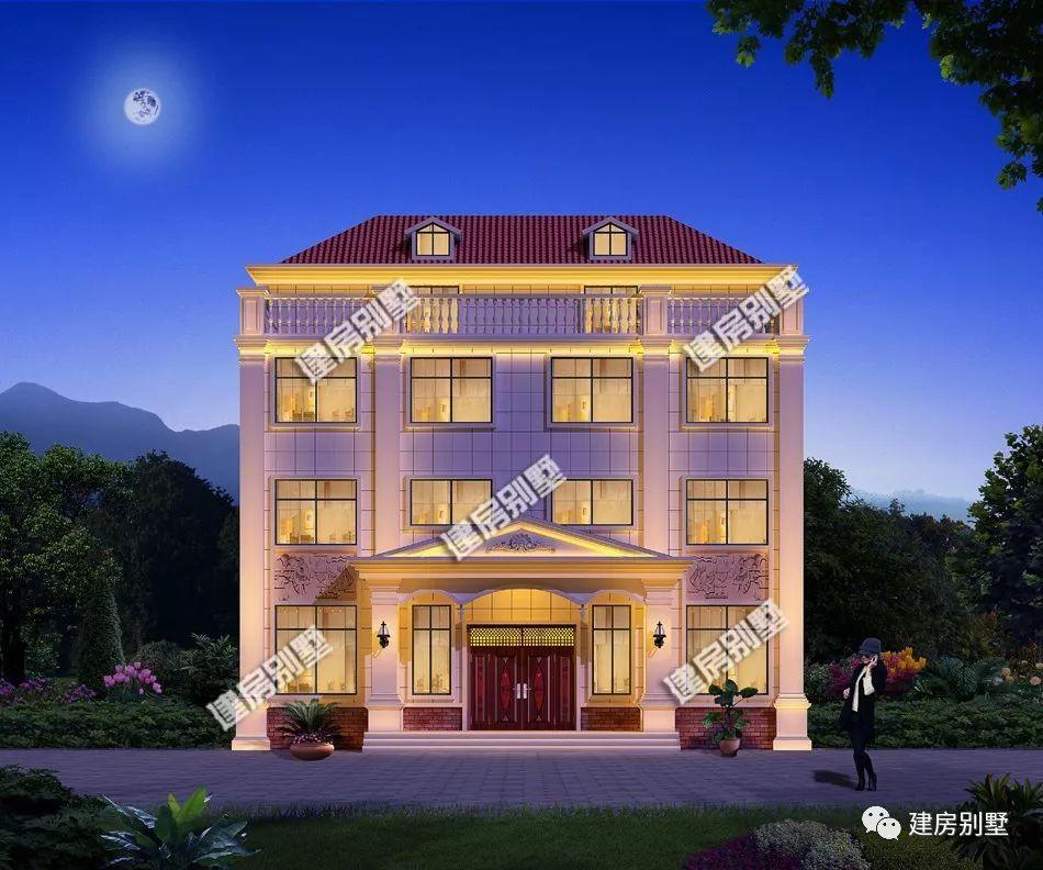 三栋带独立兄弟的自建房,第二栋地砖厨房房设计好双拼别墅院子什么样的大气好铺图片