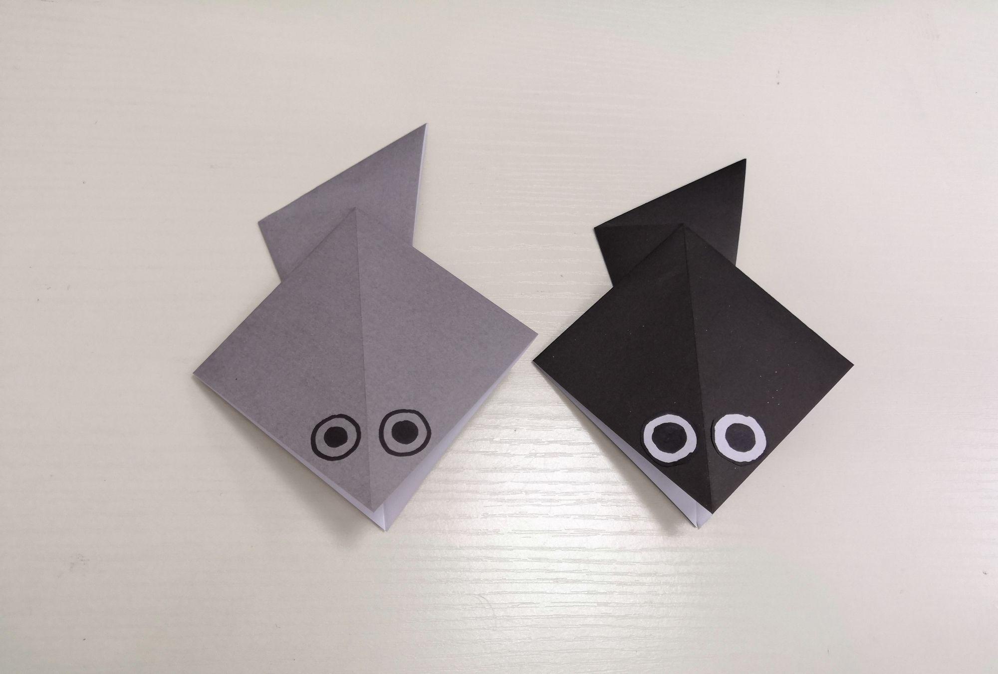 折纸小蝌蚪,成品超级可爱哦,赶快一起折一折吧