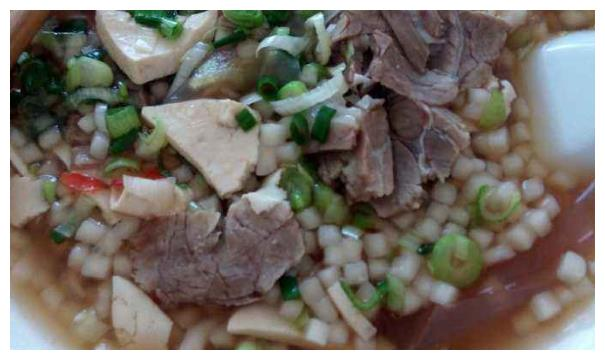 甘州牛肉小饭,你没见到过的面食类型,早饭午饭皆可