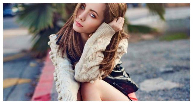 迷人的浅蓝色眼眸 拉脱维亚美女 美剧演员克塞尼亚·索罗高清美图