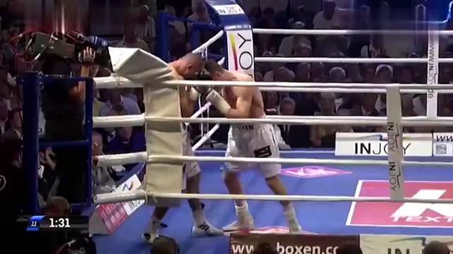 拳王亚布拉罕最霸气的一场KO,一拳暴击打的对手失去意识