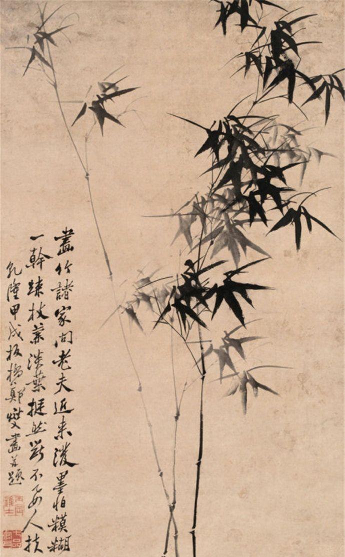 清代扬州八怪之一郑板桥画兰竹作品欣赏