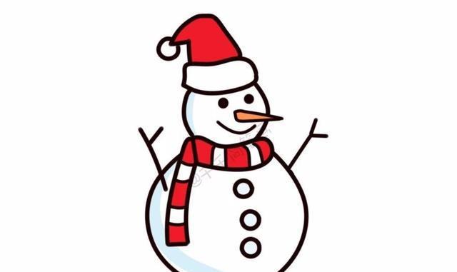 雪人总动员,超萌的20种圣诞雪人简笔画!图片