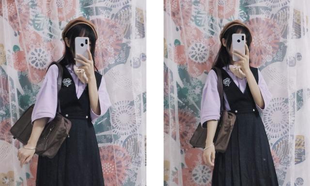 一件POLO衫的6种穿法,秒变漫画少女,一衣多穿美得不重样!