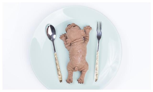 圣诞美食,网红的狗狗慕斯蛋糕,超萌超美味,你们真的舍得下嘴吗