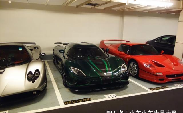 香港贝沙湾小区停车场图片,全是豪车!
