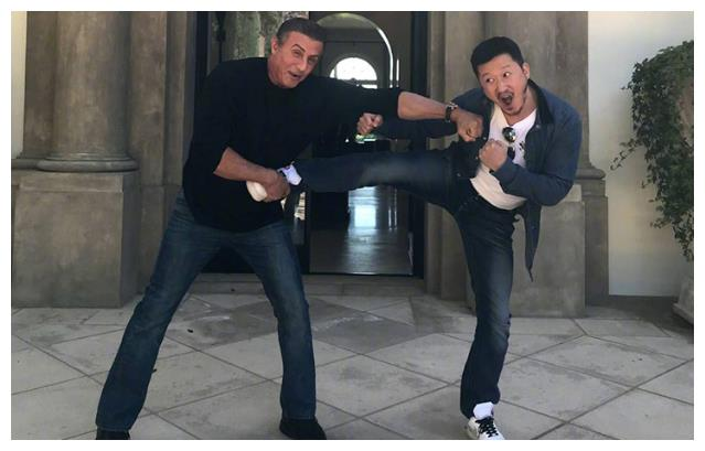 吴京史泰龙同框,两人是要合作《敢死队4》还是《战狼3》?