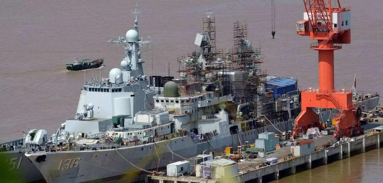 中国海军主力装备结构图,从势单力薄的现代级,到今天的万吨大驱