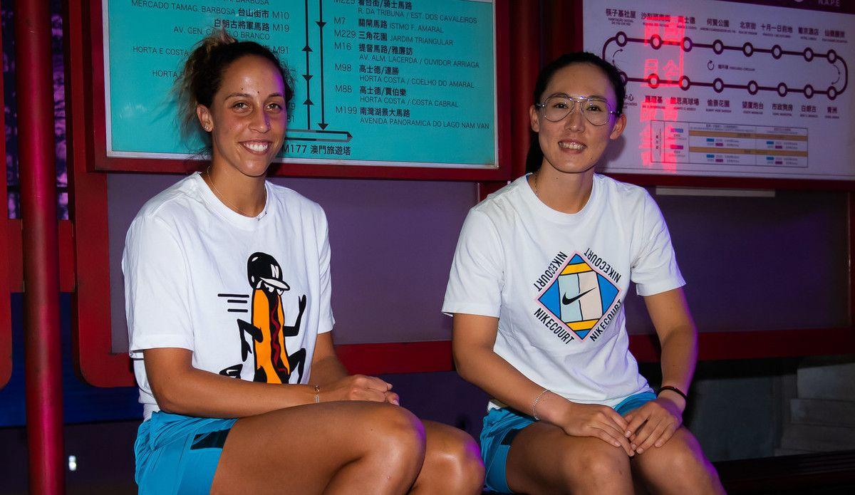 尽地主之谊!WTA珠海精英赛开赛前,郑赛赛携凯斯游玩娱乐天地