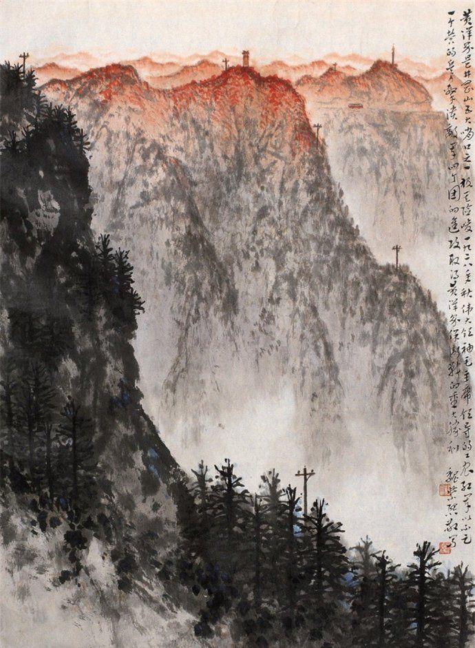 新金陵画派代表画家魏紫熙山水画作品欣赏