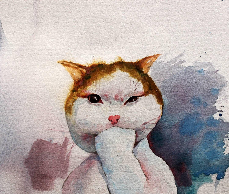 当代青年艺术家刘海轮的纸本水彩绘画作品欣赏图片
