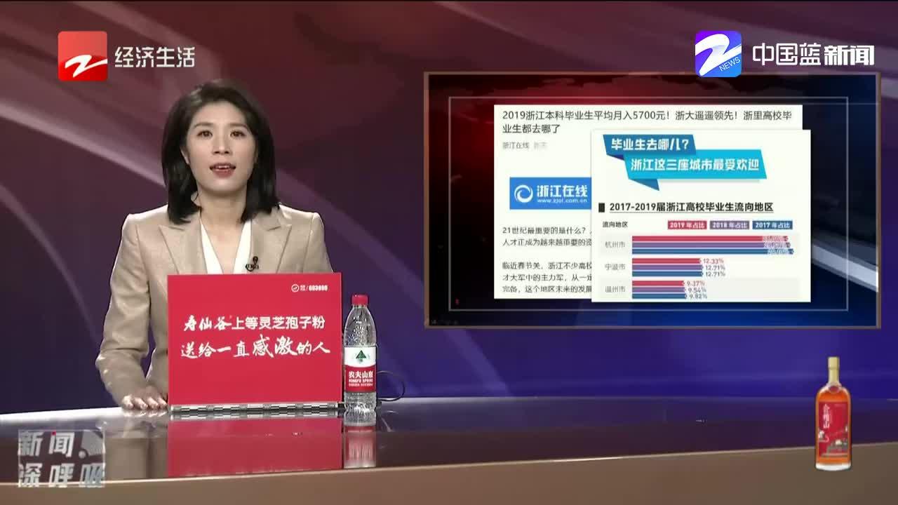 2019浙江本科毕业生平均月入5700元 毕业生最爱哪个城市