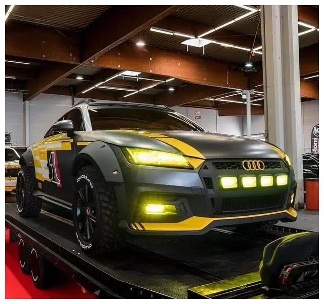 土豪花500万将奥迪TT改成越野车,改装完工后价值1200万