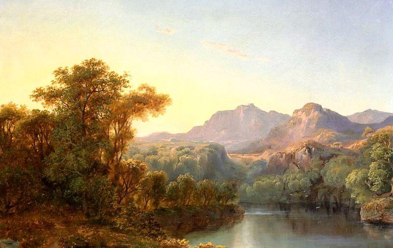 美国画家米格诺特风景画作品