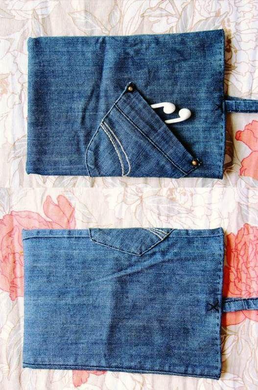 利用旧仔裤自己动手做iPad包的方法图解