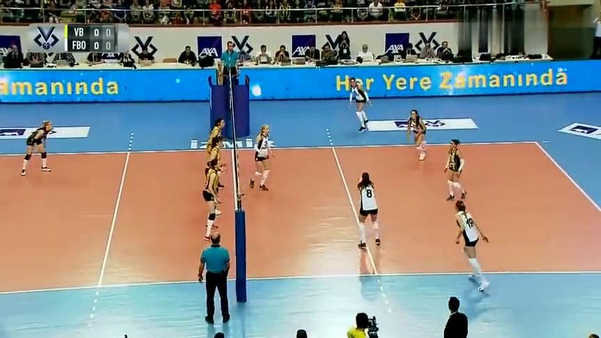 回顾:2019女排土耳其杯半决赛,瓦基弗银行vs费内巴切