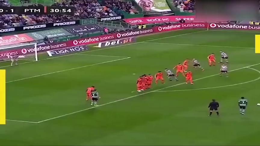 十分角!来自前巴萨后卫马蒂厄的无解任意球破门!
