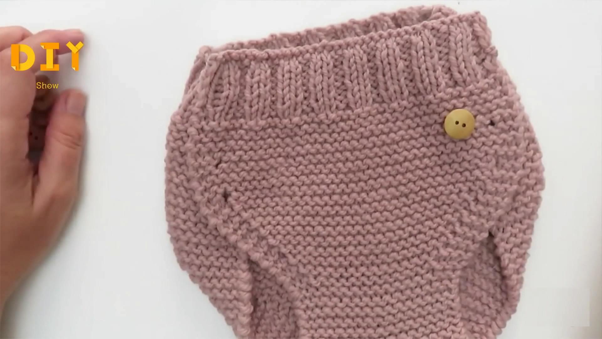 手工针织婴儿裤的方法,宝贝们穿起来舒适又保暖(图解2