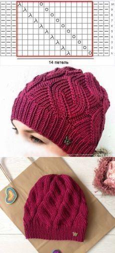 几款简单的毛线帽子编织图解,春天最适合戴,织一个吧!