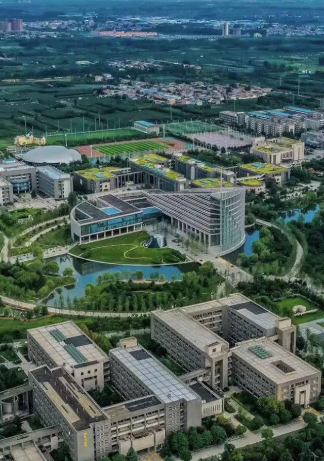 航拍西北工业大学长安校区,有亚洲最大水上图书馆