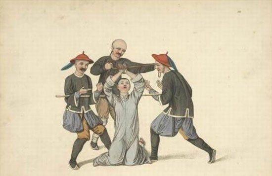 百年前,外国人画笔下的大清国刑罚之二