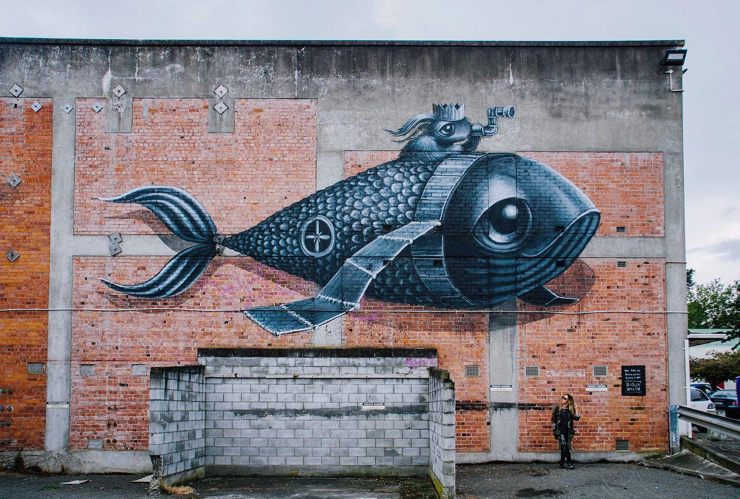 墙绘作品街头随处可见,这样富有想象力的墙绘作品才叫街头艺术