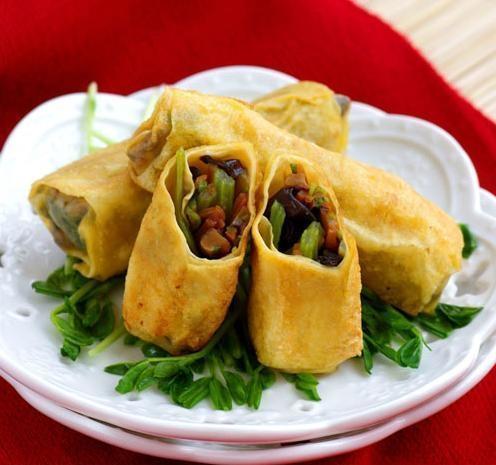 美食推荐:四色山药,香菇鲜肉腐皮卷,芝香拌面的做法