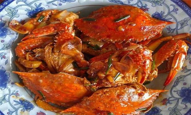 精选美食湘菜:沙茶螃蟹、脆皮大虾、炒蚕豆、板栗烧白菜心的厨艺