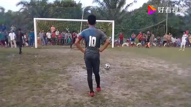 足球点球这样的点球大战换做是你能罚进吗