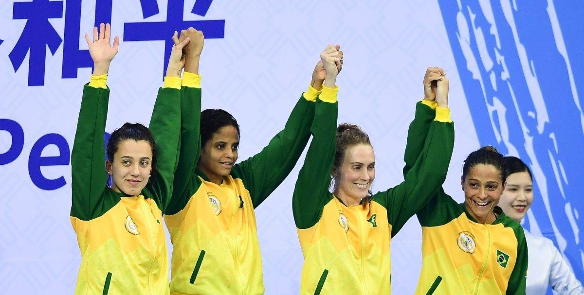 军运会|女子4×100米自由泳接力:中国队夺冠