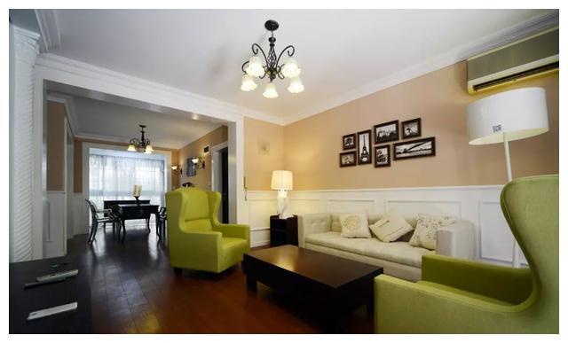现代欧式新房装修,奶咖色墙面不仅视觉效果好,而且看着也温馨